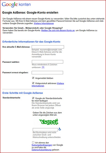AdSense Guide - AdSense-Anmeldung