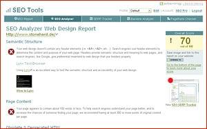 Website Analyse Sitening.com