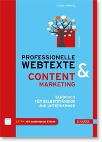 Fachbuch-Gewinner von 'Professionelle Webtexte & Content Marketing'