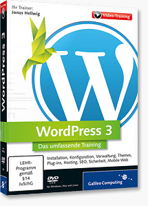 WordPress 3 Video-Training  - Review und Gewinnspiel