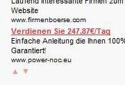 Google AdSense Anzeigen