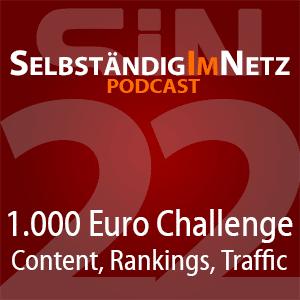 Content, Rankings und Traffic-Entwicklung in der 1.000 Euro Challenge