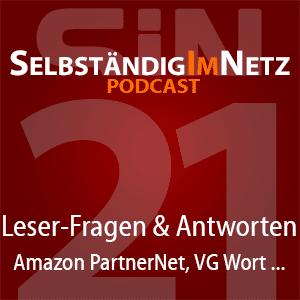 #021 - Leser-Fragen zum Amazon PartnerNet, VG Wort, Rankings und mehr - SiN Podcast