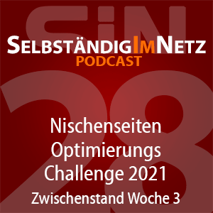 #028 - Nischenseiten-Optimierungs-Challenge 2021 Zwischenstand - SiN Podcast