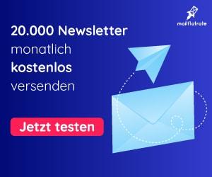 20.000 Newsletter monatlich kostenlos versenden