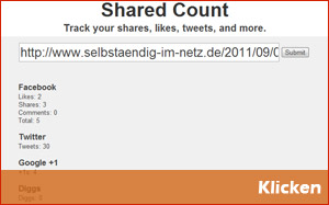 Kostenlose SEO-Tools Teil 3 - SharedCount