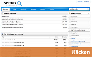 Kostenlose SEO-Tools Teil 3 - Sistrix Openlinkgraph