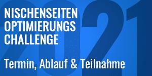 Nischenseiten-Optimierungs-Challenge 2021 – Termin, Ablauf & Teilnahme