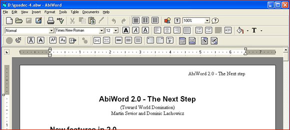 Abiword - Microsoft Office Alternativen für Selbständige
