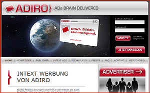 In-Text-Werbung von Adiro - Interview