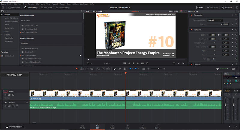 Adobe Premiere Alternative - DaVinci Resolve
