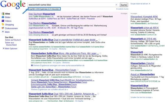 Suchergebnisse für Wasserbett Suma Blue