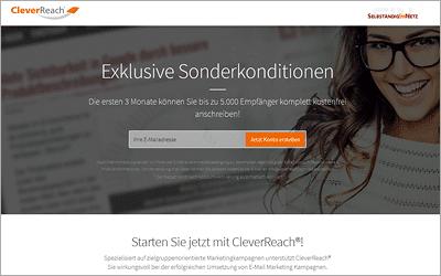 3 Monate und 5.000 Empfänger kostenlos - CleverReach Rabatt