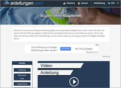 Neue Website anleitungen.com