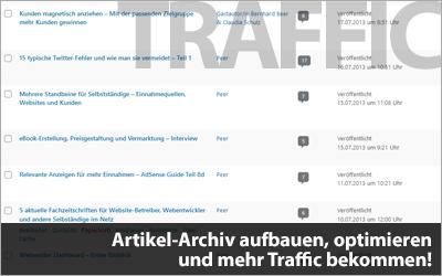 Artikel-Archiv aufbauen, optimieren und mehr Traffic bekommen!