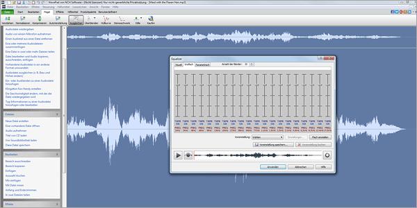 Audiosoftware für Aufnahme, Bearbeitung und Optimierung