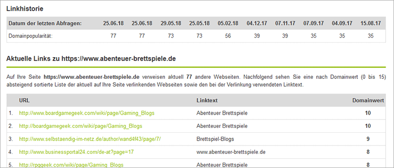 Backlink-Checker von seo-united.de