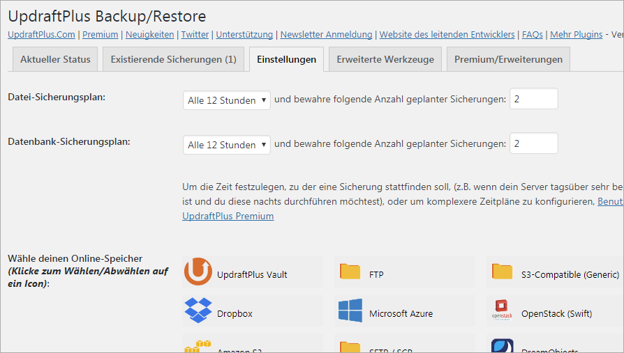 Backup Plugins für WordPress vorgestellt und welches Plugin ich nutze