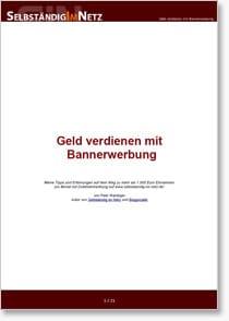 Geld verdienen mit Bannerwerbung - eBook