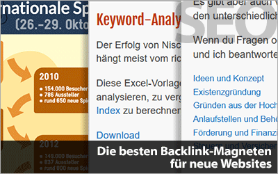 Die besten Backlink-Magneten für neue Websites