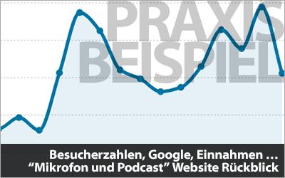 Besucherzahlen, Google-Positionen, Affiliate-Einnahmen ...
