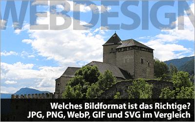 Welches Bildformat ist das Richtige? JPG, PNG, WebP, GIF und SVG im Vergleich
