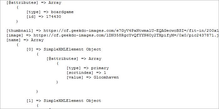 Die API von BoardGameGeek