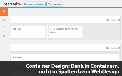 Container Design: Denk in Containern, nicht in Spalten beim WebDesign
