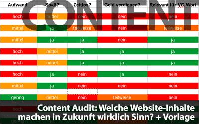 Content Audit durchführen: Welche Website-Inhalte machen in Zukunft wirklich Sinn? + Vorlage