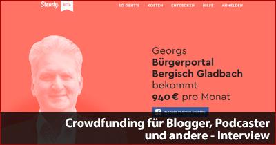Crowdfunding für Blogger, Podcaster und andere - Interview