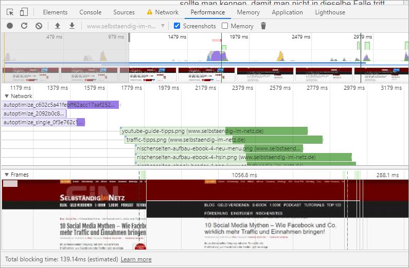 CLS-Probleme mit den Google Chrome Entwickler-Tools finden