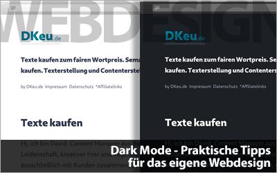 Dark Mode - Praktische Tipps für das eigene Webdesign