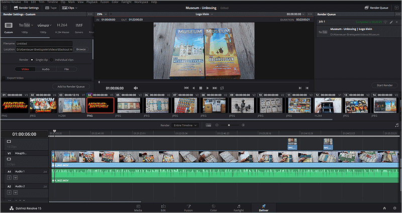 DaVinci Resolve - Deliver