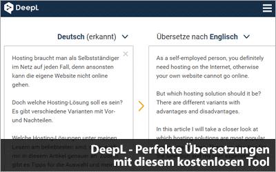 DeepL - Perfekte Übersetzungen mit diesem kostenlosen Tool