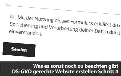 Was es sonst noch zu beachten gibt - DS-GVO gerechte Website erstellen Schritt 4