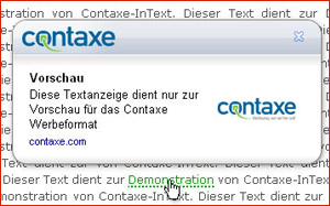 Contaxe als Einnahmequelle