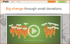 Spenden als Einnahmequelle - Flattr