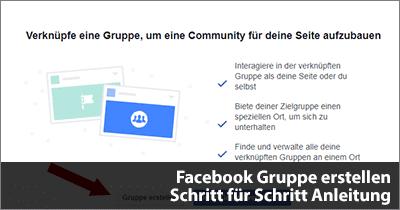 Facebook Gruppe erstellen - Schritt für Schritt Anleitung