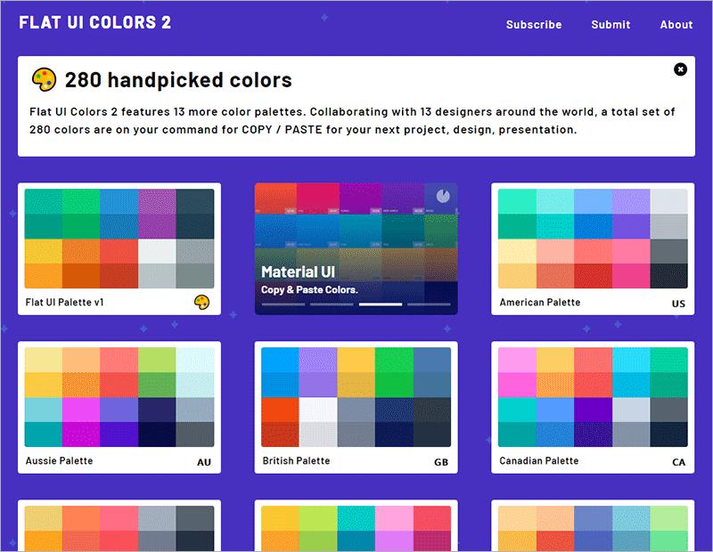 FlatUI - 5 Online-Tools für schöne Farben