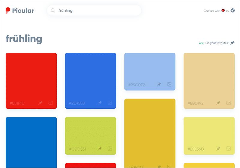 Picular - 5 Online-Tools für schöne Farben