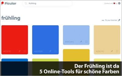 Der Frühling ist da - 5 Online-Tools für schöne Farben