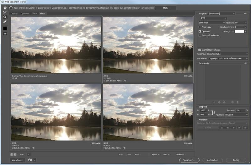 Foto- und Bild-Komprimierung - Warum das wichtig ist, Tools und Plugins.