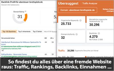 So findest du alles über eine fremde Website raus - Traffic, Rankings, Backlinks, Einnahmen und mehr