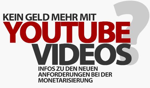 Kein Geld mehr mit Videos verdienen? Die YouTube-Änderung und meine Tipps!