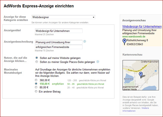 Google AdWords Express - Lokale Werbung mit Google