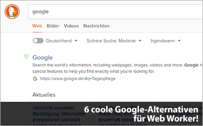 Nicht immer nur auf Google schauen. Hier sind 10 coole Google-Alternativen für Web Worker!