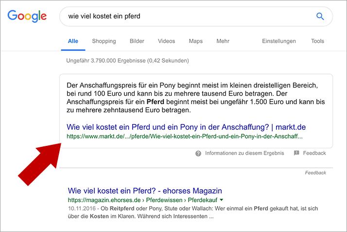 Google Featured Snippet - So erreichst du die Position 0 bei Google!