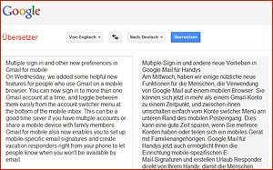 Google für Selbständige - Übersetzer