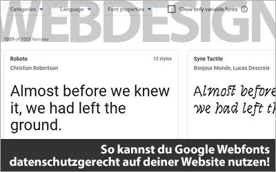 So kannst du Google Webfonts datenschutzgerecht auf deiner Website nutzen!