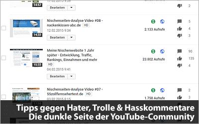Hater, Trolle & Hasskommentare - Die dunkle Seite der YouTube-Community und wie ihr damit umgeht